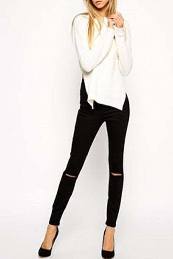 Josephine Black Distressed Jeans - Bottoms - Affordable Boutique Fashion
