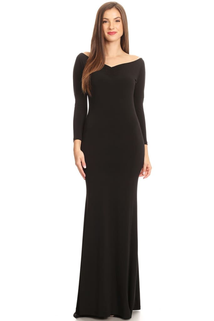 """Kinley"" Boatneck Mermaid Gown - DRESSES - Affordable Boutique Fashion"
