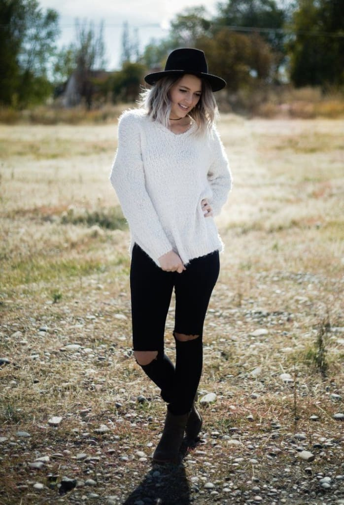 Kora Leona Fuzzy Knit Sweater - - SWEATER - Affordable Boutique Fashion