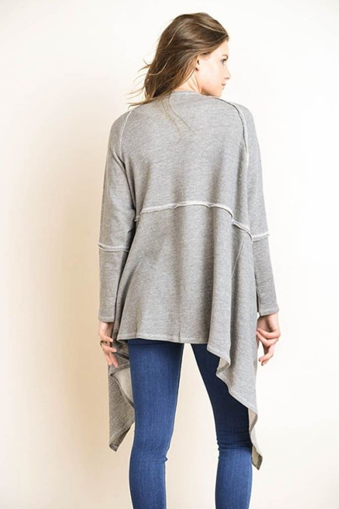 Kourtney Knit Cardigan - Grey - - Sweaters - Affordable Boutique Fashion