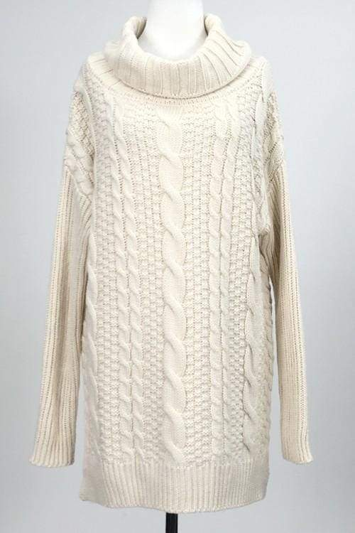 Kye Oversized Chunky Knit Sweater - - SWEATER - Affordable Boutique Fashion