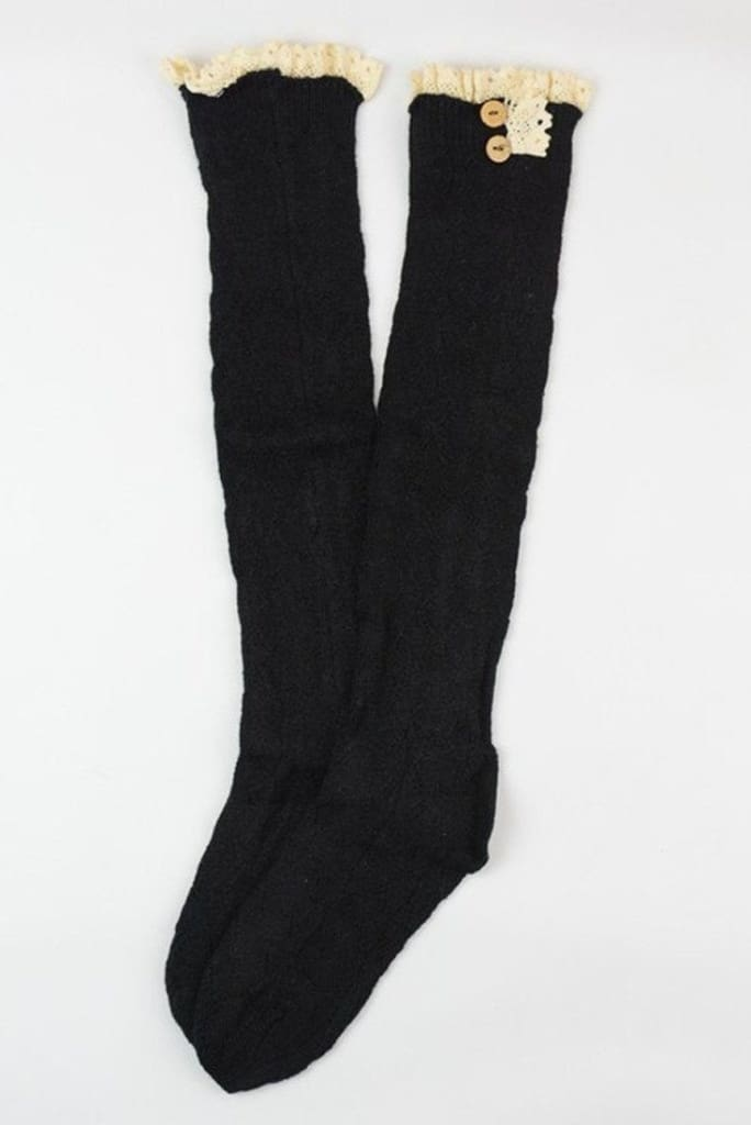 Lace Boot Socks (3 Colors) -  - Affordable Boutique Fashion