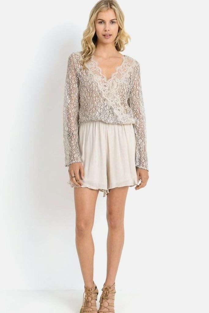Lace Mystique Romper - Dresses - Affordable Boutique Fashion