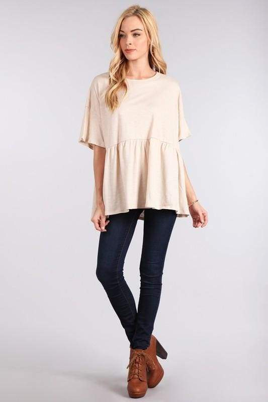 Laurel Basics Peplum - Tops - Affordable Boutique Fashion