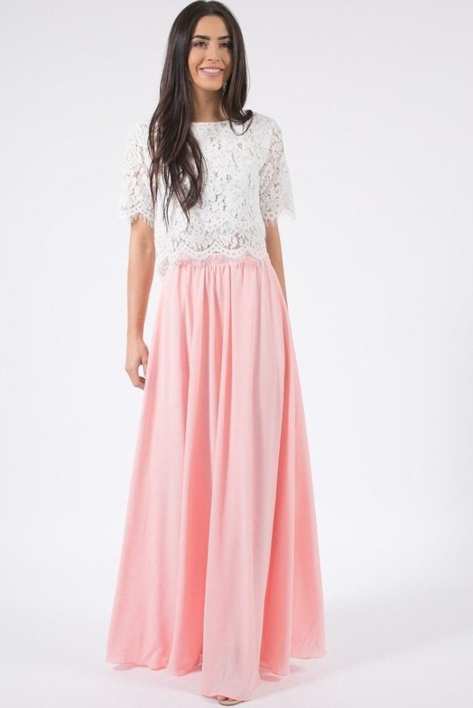 Lexie Blush Full Maxi Skirt - SKIRTS - Affordable Boutique Fashion