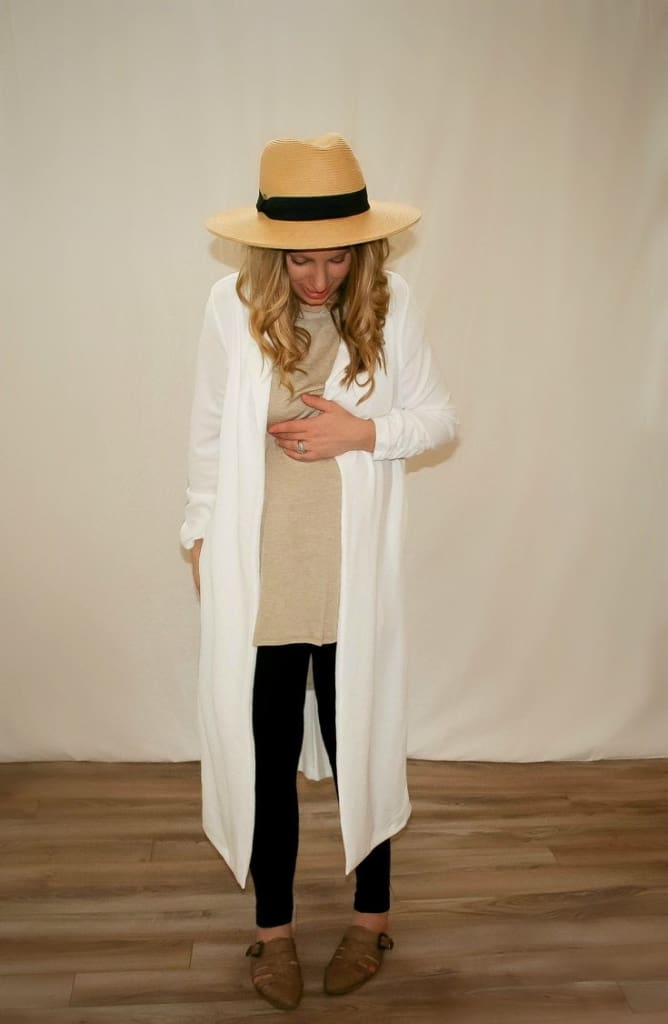 London Duster Blazer | White - Tops - Affordable Boutique Fashion