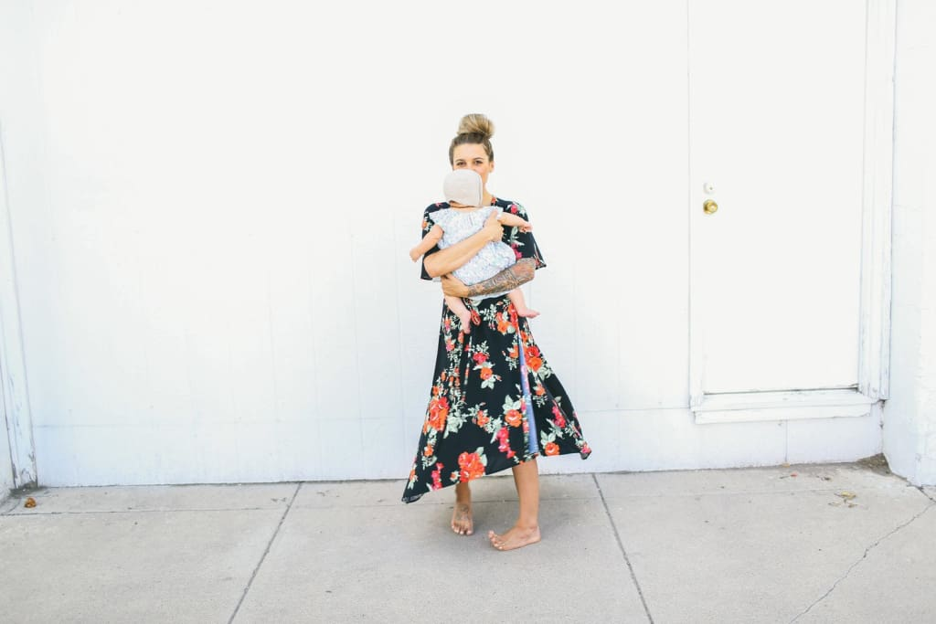 Lottie True Wrap Midi | Black Floral - DRESSES - Affordable Boutique Fashion