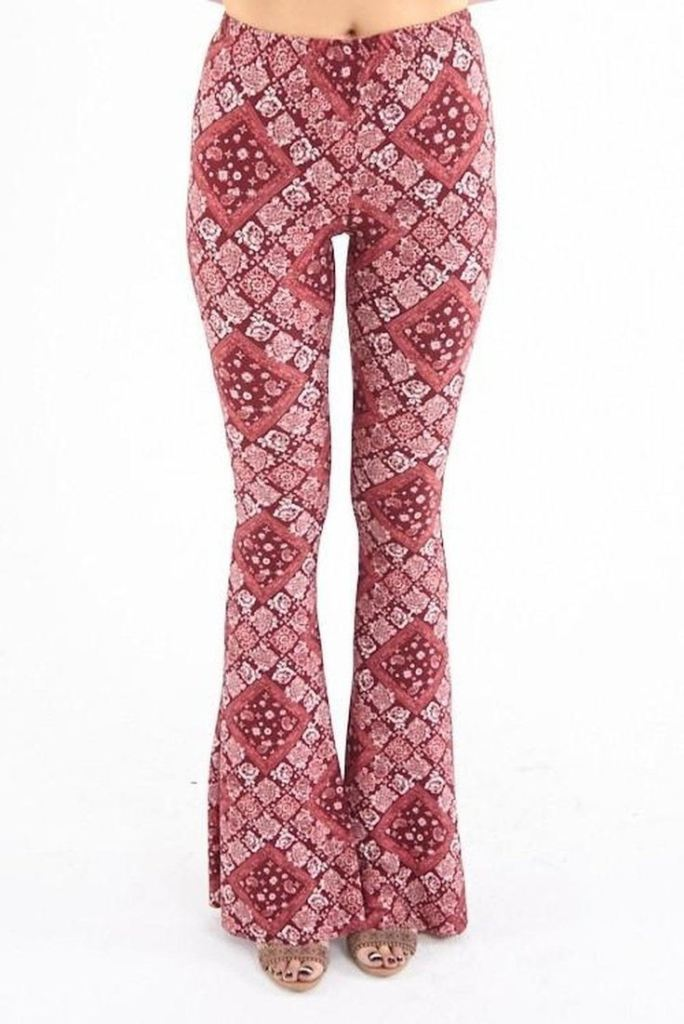 Lucky Duck Bandana Bell Bottoms by Dee Elly - Bottoms - Affordable Boutique Fashion