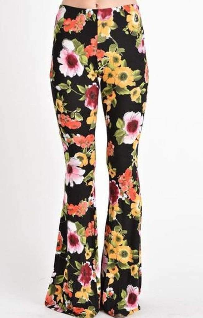 Lucky Duck Bell Bottoms - Floral ! - Bottoms - Affordable Boutique Fashion