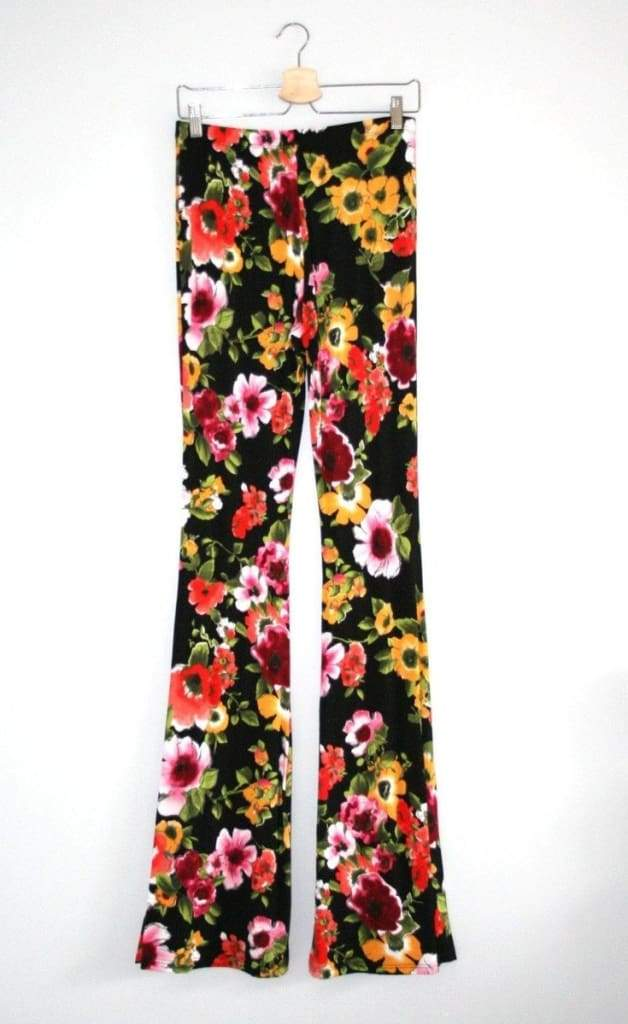 Lucky Duck Bell Bottoms - Floral . - Bottoms - Affordable Boutique Fashion