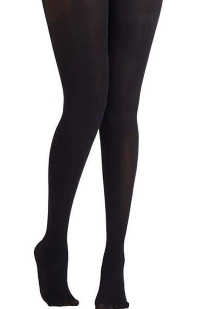 Lucky Duck Opaque Black Tights - Bottoms - Affordable Boutique Fashion