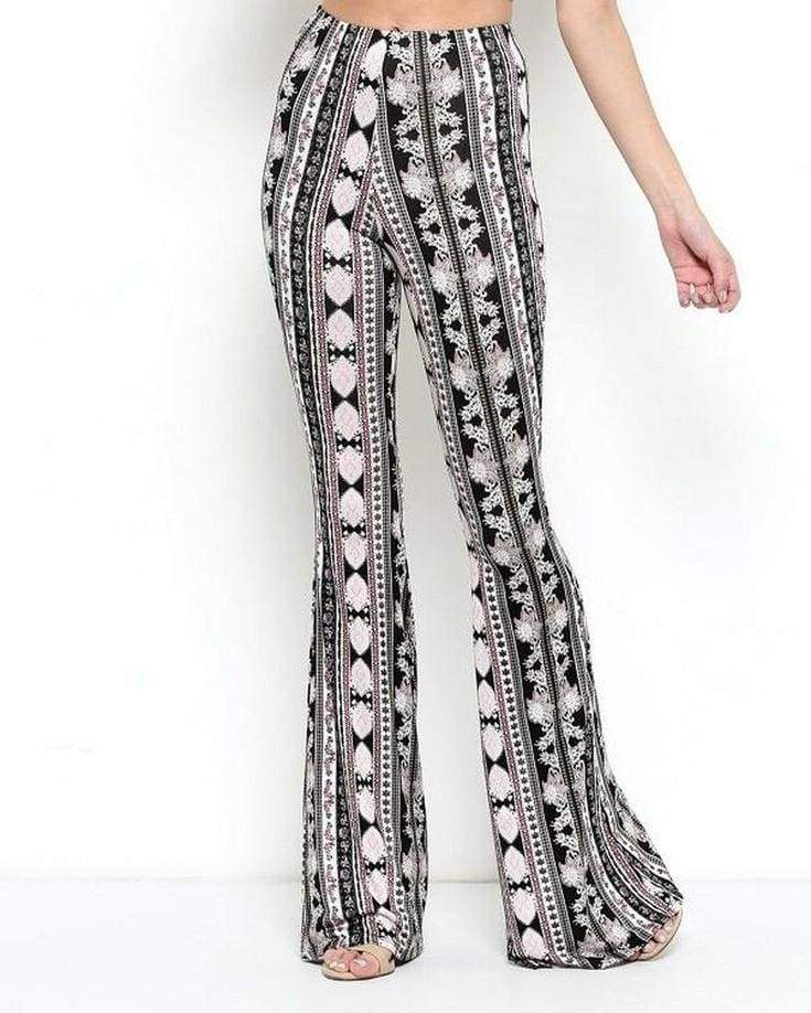 Lucky Duck Royal Flush Bell Bottoms - Bottoms - Affordable Boutique Fashion