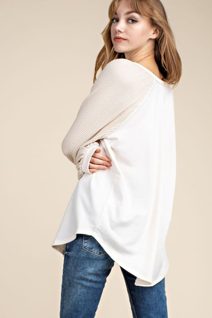 Lyric Waffle Knit - Tops - Affordable Boutique Fashion