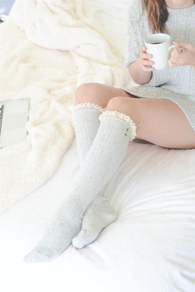 Mac Boot Socks - Light Grey -  - Affordable Boutique Fashion