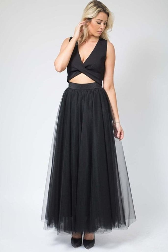 Magic in Manhattan Tulle Maxi Skirt - Black - SKIRT - Affordable Boutique Fashion