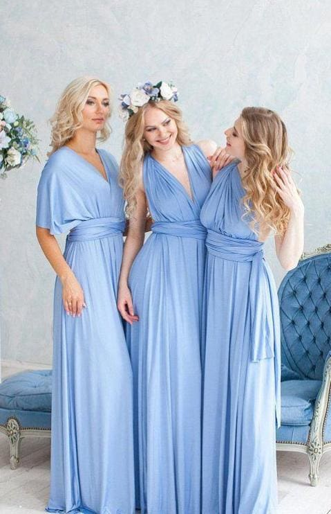 Marilyn Multiway Maxi Dress - Powder - DRESSES - Affordable Boutique Fashion