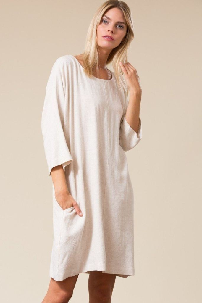 Meridan Relaxed Fit Linen Dress - Dresses - Affordable Boutique Fashion