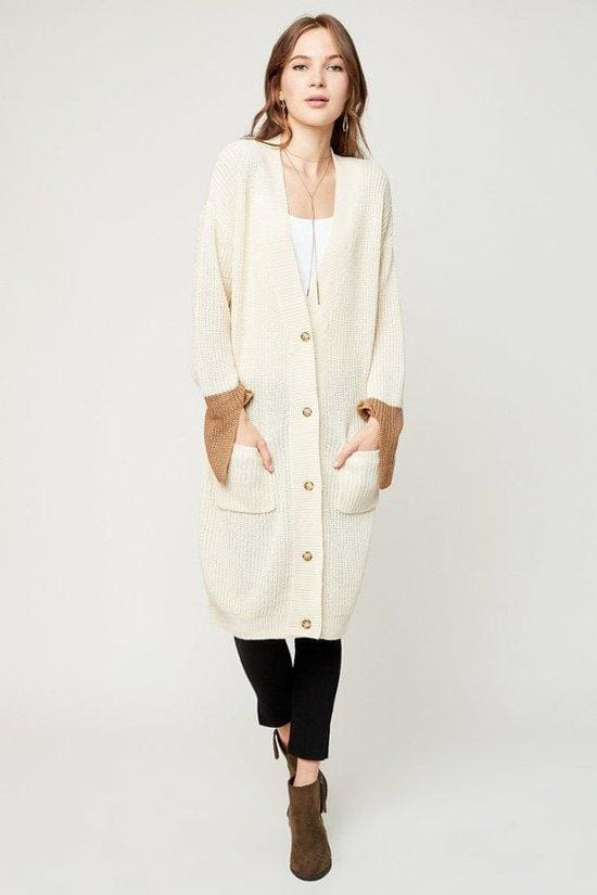 Micah Oversized Cardigan | Cream - JACKET - Affordable Boutique Fashion