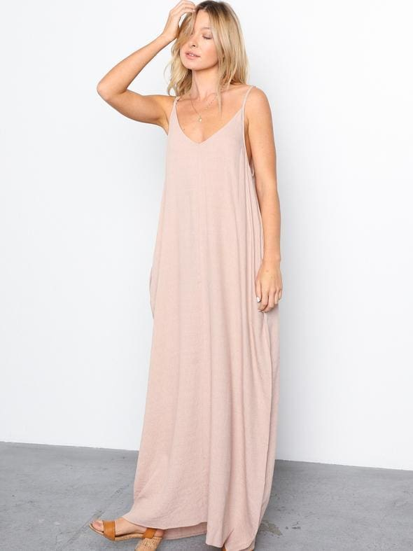 Mila Harem Linen Maxi Dress - Dresses - Affordable Boutique Fashion