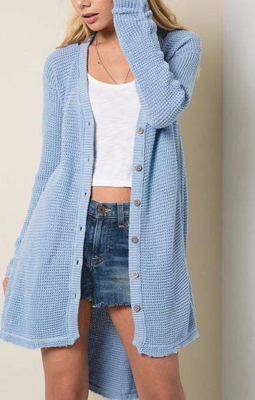 Misty Moonlight Cardigan - JACKET - Affordable Boutique Fashion