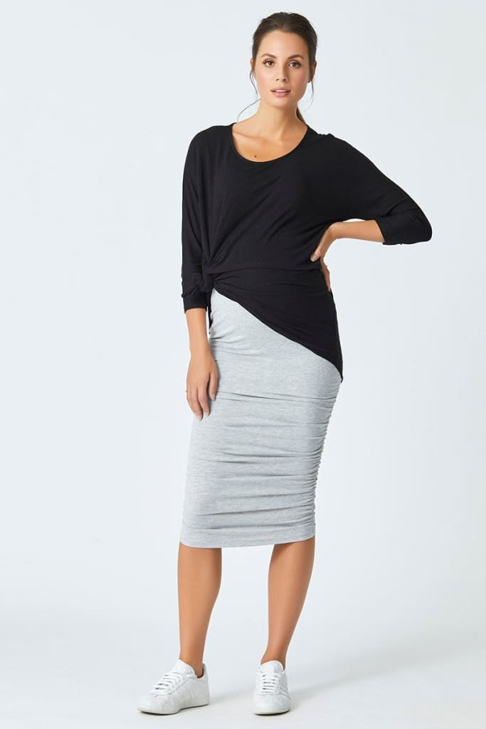 Momiform Multi-Way Skirt | Grey - SKIRT - Affordable Boutique Fashion