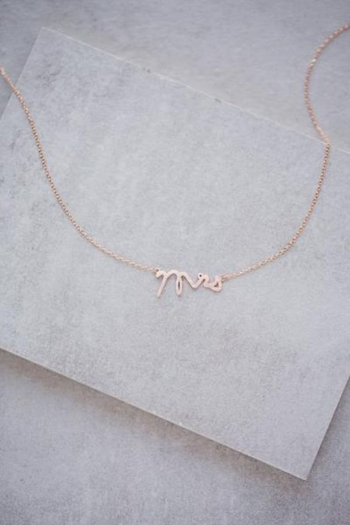 Mrs Rose Gold Dainty Necklace -  - Affordable Boutique Fashion