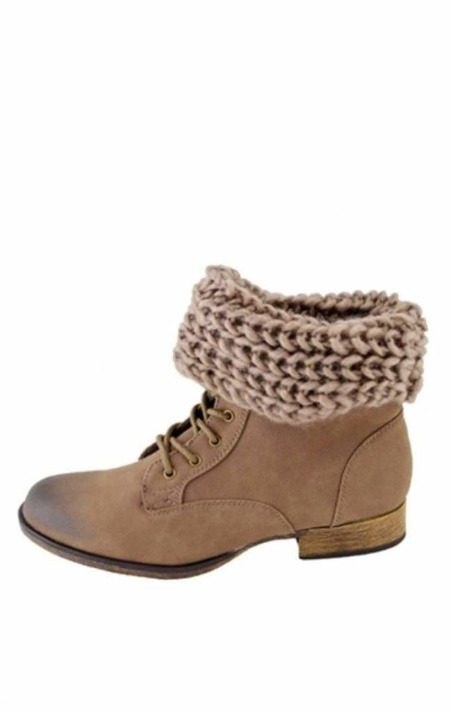 Nantucket Sweater Cuff Booties -  - Affordable Boutique Fashion