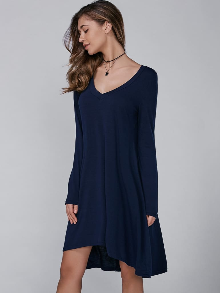 """Nelly"" Long Sleeve Swing Dress 