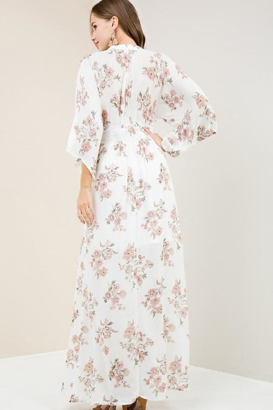Nesa Floral Maxi Dress - DRESSES - Affordable Boutique Fashion