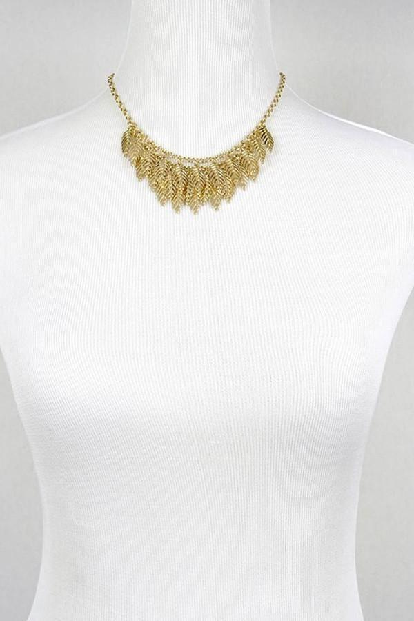 New Leaf Gold Necklace -  - Affordable Boutique Fashion