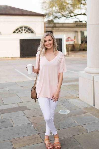 Nova V-Neck Tee - 3 Colors - Tops - Affordable Boutique Fashion