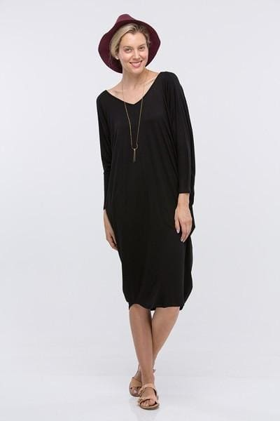 October Everyday Maxi | Black - DRESSES - Affordable Boutique Fashion