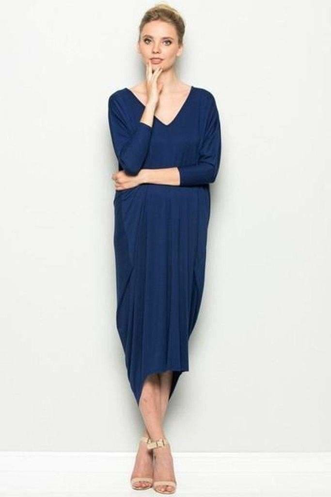 October Everyday Maxi | Navy - DRESSES - Affordable Boutique Fashion