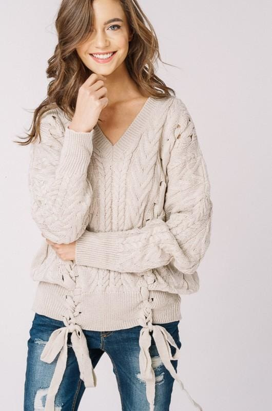 Olwen Sweater | Taupe - sweater - Affordable Boutique Fashion
