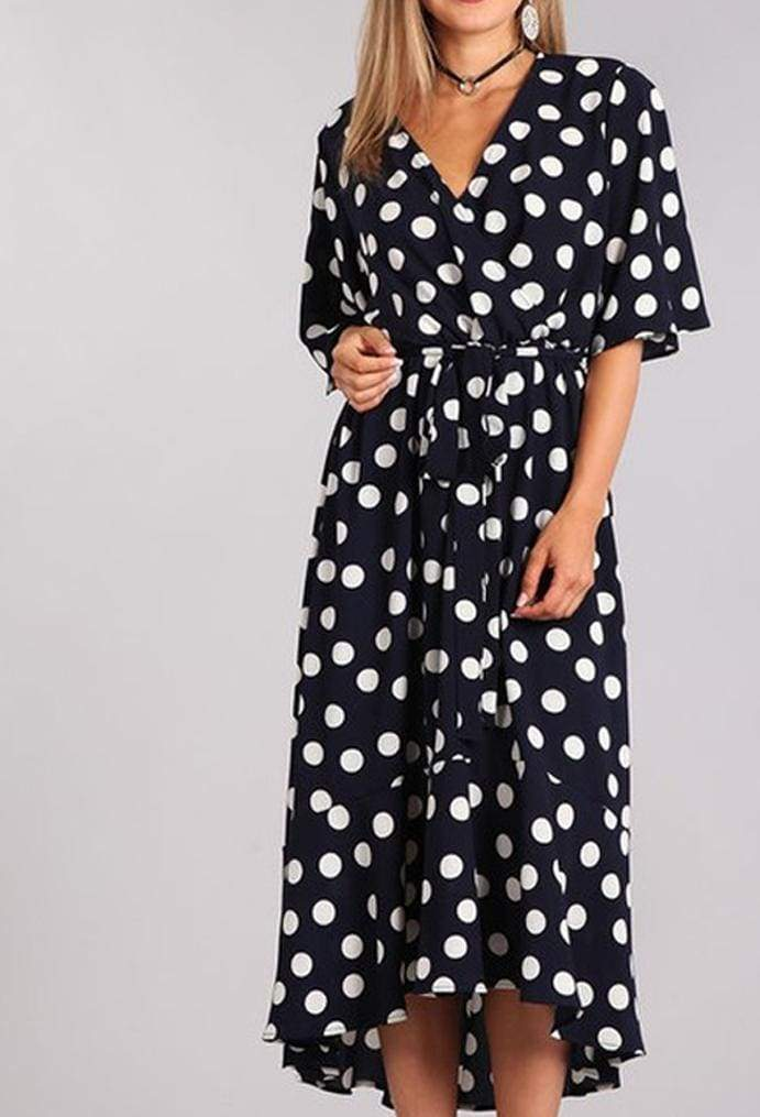 Paddington Polka Dot Hi-Low Dress - DRESSES - Affordable Boutique Fashion