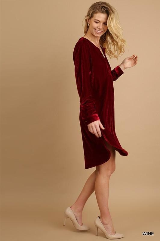 Pauly Velvet Tunic Shift Dress . - Dresses - Affordable Boutique Fashion