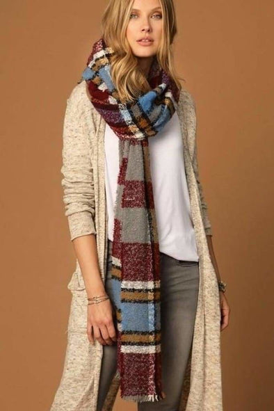 Plaid Fairbanks Scarf - Accessories - Affordable Boutique Fashion