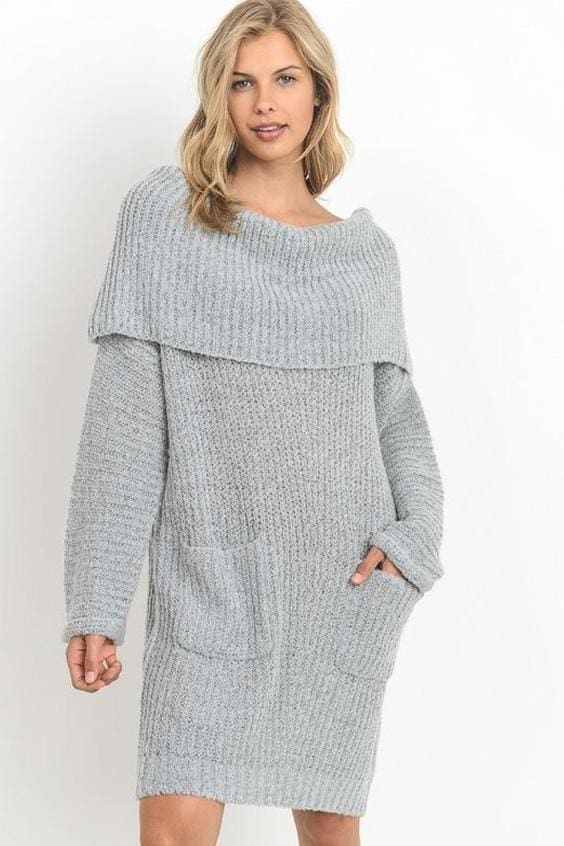 1a53b395727 Pocono Oversized Sweater Dress    More Colors - SWEATERS - Affordable  Boutique Fashion