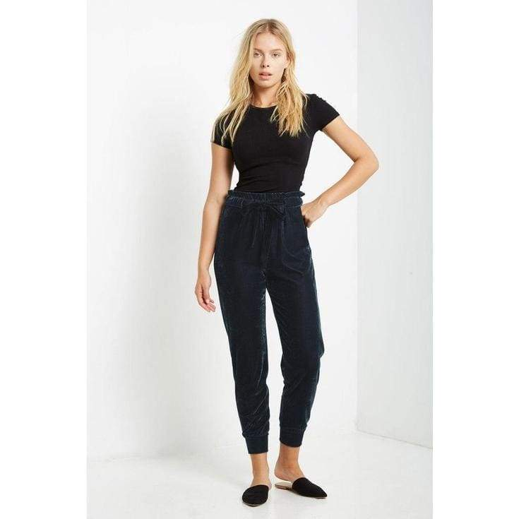 Porter Velvet Joggers - joggers - Affordable Boutique Fashion