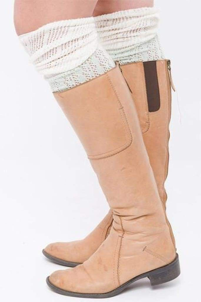 Pretty In Mint Boot Socks . - SALE - Affordable Boutique Fashion