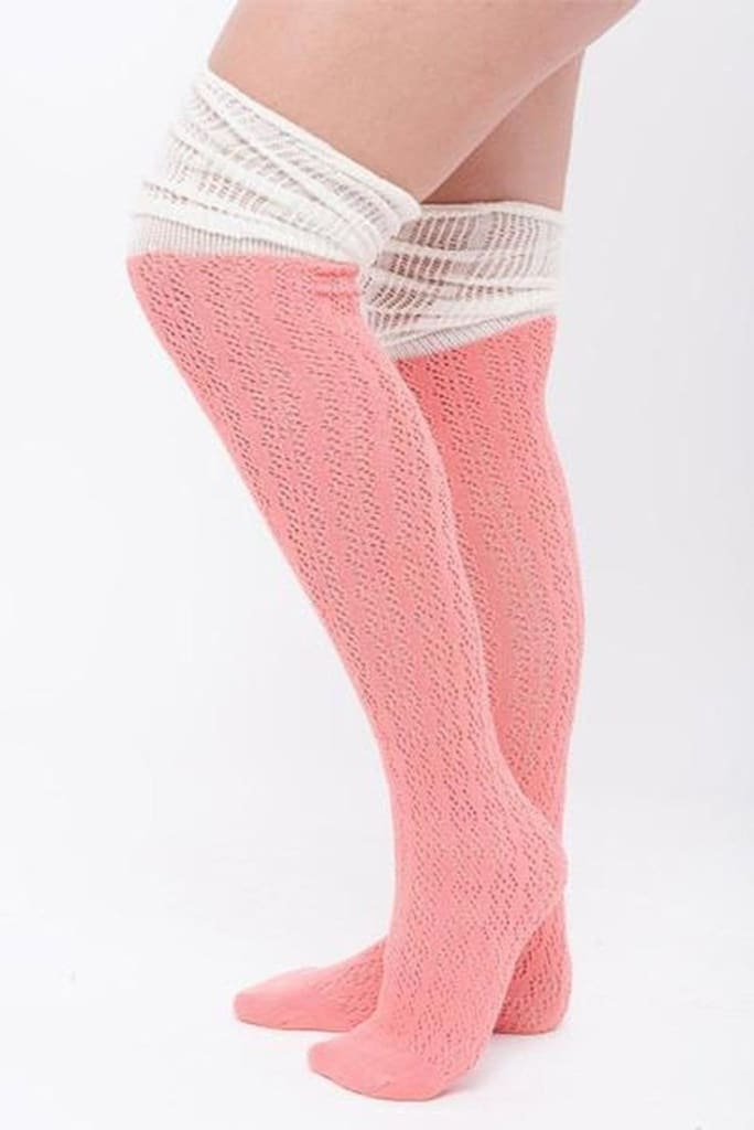 Pretty In Pink Boot Socks . - SALE - Affordable Boutique Fashion