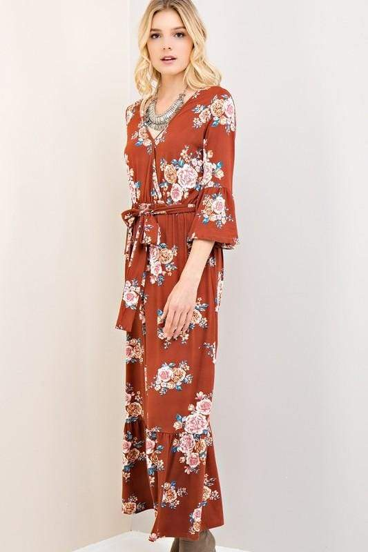 Ramon Bohemian Fall Floral Maxi dress - Dresses - Affordable Boutique Fashion