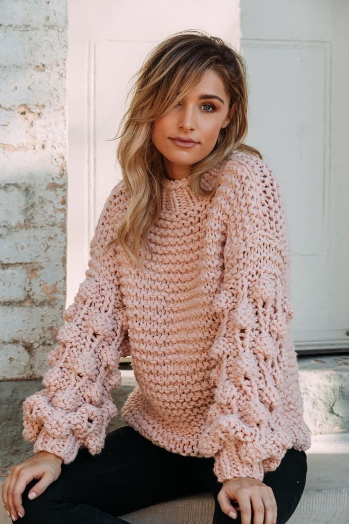 Retta Chunky Knit Sweater | Mauve - SWEATER - Affordable Boutique Fashion