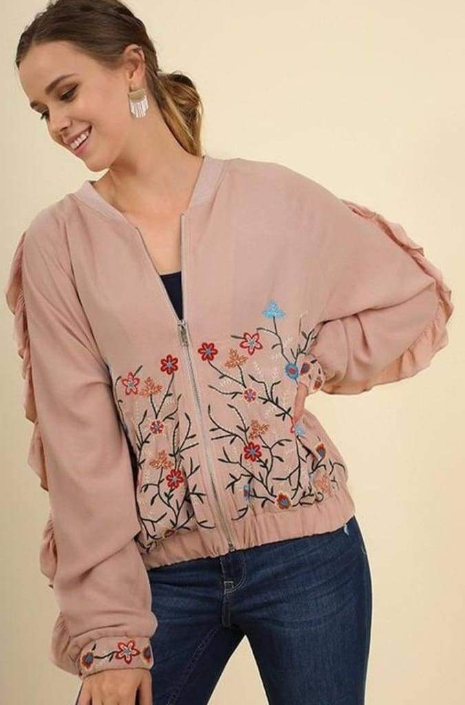 Richmond Embellished Bomber Jacket - JACKET - Affordable Boutique Fashion