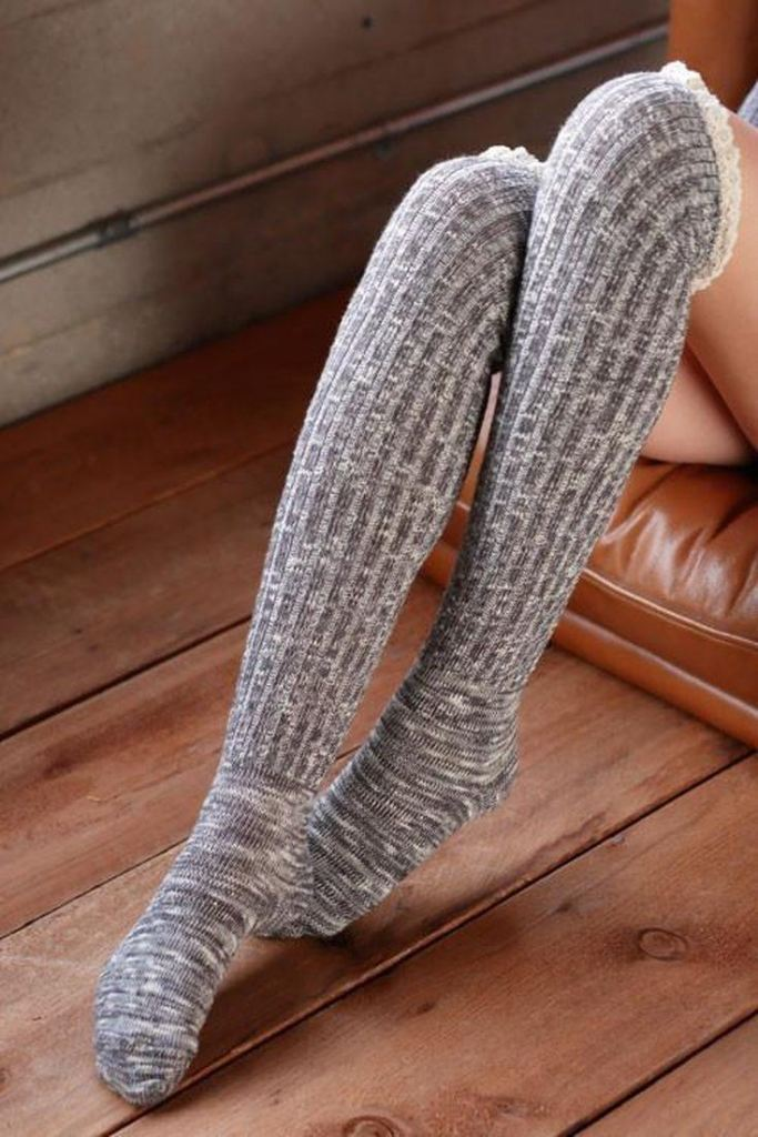 Right for the Occasion Knit Boot Socks - Grey -  - Affordable Boutique Fashion