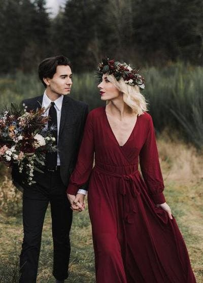 Romance Chiffon Maxi | Burgundy - DRESSES - Affordable Boutique Fashion