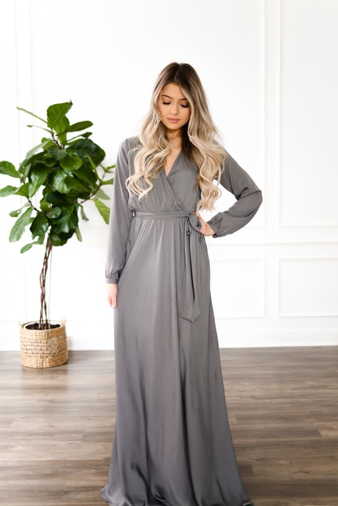 Romance Chiffon Wrap Maxi Dress | Bump Friendly - DRESSES - Affordable Boutique Fashion