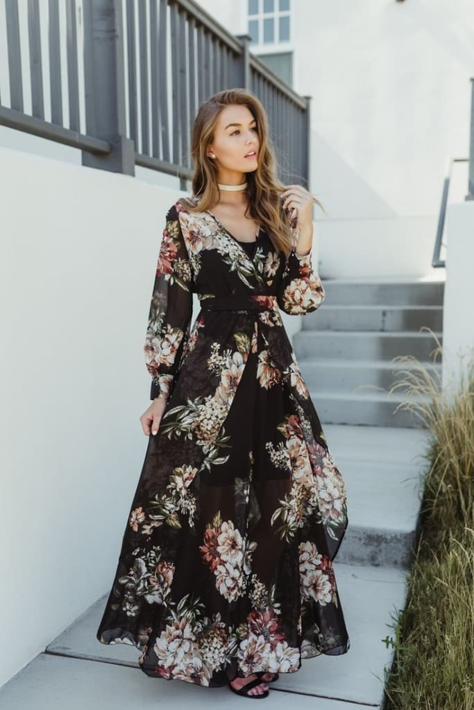 Romance Maxi Dress | Bitty Blooms - DRESSES - Affordable Boutique Fashion