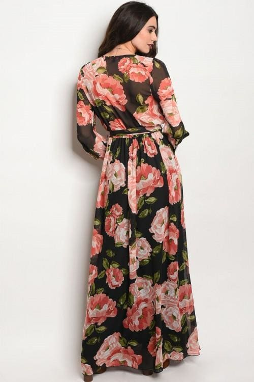 Romance Maxi Dress | Fall Blooms - DRESSES - Affordable Boutique Fashion