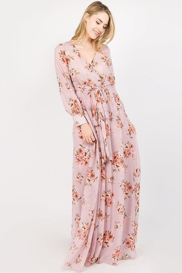 Romance Maxi Dress | Lavender Fields - DRESSES - Affordable Boutique Fashion